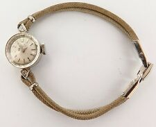 `VINTAGE 14K GOLD & 2 DIAMOND GIRARD PERREGAUX 17J GXM LADIES WATCH, WORKING.