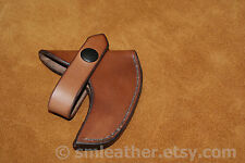 """Handcrafted Leather Sheath Mask Cover fits Estwing E24A 14"""" Sportsman Axe"""