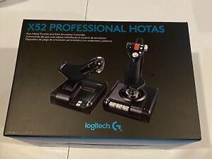 Logitech X52 Professional Pro Flight Simulator Controller Saitek System HOTAS