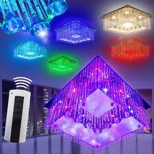 Design Deckenlampe LED Farbwechsler Wohn Zimmer Lampe RGB Leuchte Fernbedienung