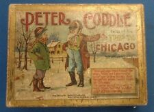ANTIQUE vintage 1900s BOARD GAME PETER CODDLE CODDLE CHICAGO Parker Brothers