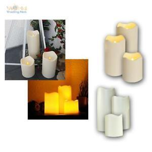 6er Set LED Candle for Outdoor Candles Flameless Elktrisch Candle Fackernd