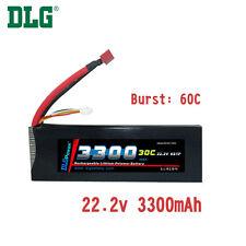 Genuine DLG RC Battery 22.2V 6S 30C 3300mAh Burst 60C Li-Po LiPo Dean's T plug