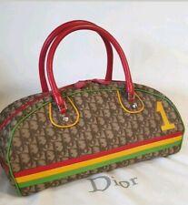 Christian DIOR Trotter Rasta Collection  Monogram Bowling Bag Tasche wNeu Sac