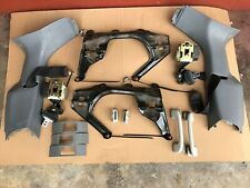 MERCEDES-BENZ ML W163 3RD ROW SET OF 2 REAR SEATS BRACKETS & SEAT BELTS GREY