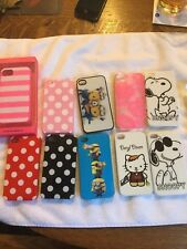 Lot of 10 iPhone 4 4S Phone Cases Snoopy Peanuts Walking Dead Minion VS Must See