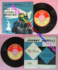 LP 45 7'' JOHNNY DORELLI Lettera a pinocchio Ginge rock italy  no cd mc vhs dvd