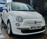 2012 FIAT 500 1.2 ONLY 68k MOT OCT 2021 DRIVES PERFECTLY GLASS ROOF £30 YEAR TAX