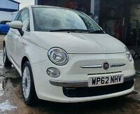 2012 FIAT 500 1.2 68k FSH MOT OCT 2021 DRIVES A1 GLASS ROOF £30 TAX £3350 ONO