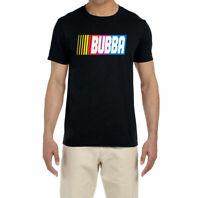 Gildan Funny NASCAR* Bubba *Wallace Logo Black T-Shirt 100% Cotton Shirts S-5XL