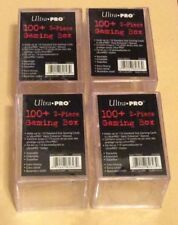 Ultra Pro 100+ 2-Piece Clear Plastic Gaming Box #82623 Lot Of 4 NIP Boxes