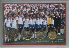 England vintage COPPA DEL MONDO di CALCIO SPAGNA ESPANA 82 retrò Coin Set Regalo 1982