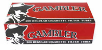 Gambler Red Full Flavor King Size - 8 Boxes - 200 Tubes Box Cigarette Tobacco