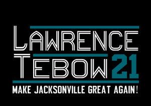 Trevor Lawrence Tim Tebow 2021 campaign shirt Jacksonville Jaguars Duval County