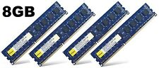 8GB (4x2GB) DDR3 PC3-10600U NON-ECC senza buffer per Desktop PC memoria (RAM) 240-pin