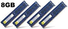 8GB (4x2GB) DDR3 PC3-10600U NON-ECC senza buffer per Desktop PC memoria (RAM) 240-pin