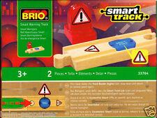 Brio smart track 33764 Warnschiene 2-teilig Eisenbahn Holz Gleis Schild OVP Neu