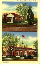 Mac Gregor Library-Post Office Building-Derry-New Hampshire-Vintage Postcard
