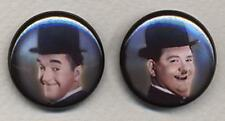 Laurel and Hardy colour  two Badge Button Pins