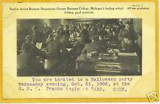 Halloween Postcard - Owosso Business College Michigan