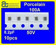[20 pcs] ATC 100A 8.2pF @ 50V RF PORCELAIN CAPACITORS