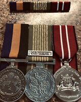 Replica AOSM Border Protection, National Emergency Medal & ADM & Ribbon Bar.