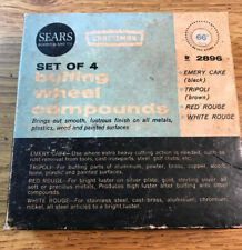 Vintage Sears Craftsman No. 9-2896 Set of 4 Buffing Wheel Compounds (A4)