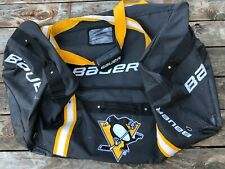 "HUGE 32"" Official Bauer Pittsburgh Penguins Team Game Used Equipment Duffle Bag"