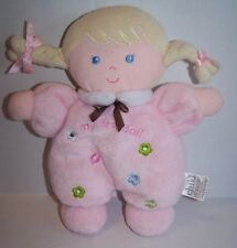 Carters My First Doll Blonde Security Blanket Lovey Rattle