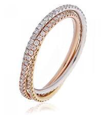 Diamond Russian Wedding Band 1ct F VS Brilliant 18ct White & Yellow & Rose Gold