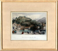 Hand Colored Engraving. British Encampment on Irgao-Shan. Wright. China, 1843.