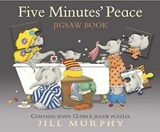 FIVE MINUTES' PEACE JIGSAW BOOK (LARGE FAMILY) BY JILL MURPHY  NEW HARDBACK BOOK