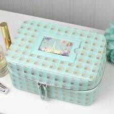 'Rendezvous' Vanity/Make-up Case in  Duck Egg & Gold from John Lewis
