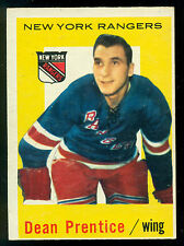 1959-60 TOPPS HOCKEY #17 DEAN PRENTICE NM NEW YORK N Y RANGERS CARD