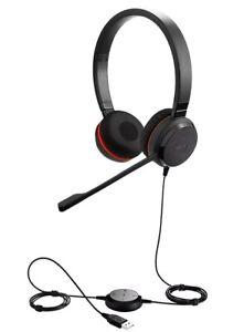 Jabra Evolve 30 II UC USB / 3.5mm Jack Stereo OnEar Headset Noise Cancelling Mic