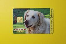 Magyar Kutyak Kuvasz -Dog & Popies 1997 Collectibles Old Vintage Tele Phone Card