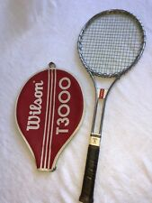 "Wilson T3000 Aluminum Tennis Racket Vintage 26 3/4"" Length 4-3/8"" Grip Antique"