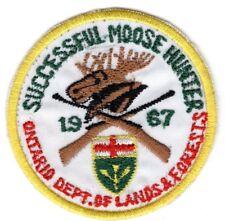 1967 Ontario Successful Moose Hunting Patch Michigan Bear Deer Turkey #4 (Small)