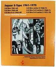JAGUAR E-TYPE 1961-1972 Owner's Workshop Manual BOOK Jag Car Restoration Guide