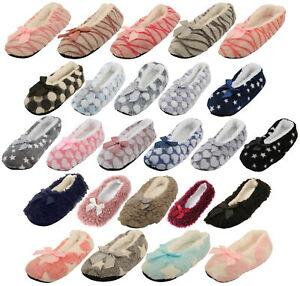 Atania Ladies Ballet Style Plush Slipper Socks