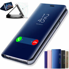 Espejo caso para Apple iPhone XS Max Xr X 7 8 7 Plus Cubierta De Cuero Abatible Billetera