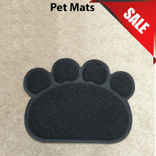 Black PAW Easylifer Cat Litter Mat Non-slip Food Bowl Feeding Placemat Mat Pet