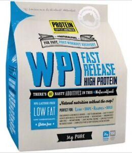 Protein Supplies Australia WPI Whey Protein Isolate | Pure - 3kg | Bulk