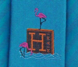 """Sweet Hermes Tie """"Miami Design District Opening"""" Ex Rare Collectors Edition Mint"""