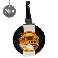 High Quality - Non Stick Marble Coated Fry Pan 24CM 2.5MM Induction Cookware