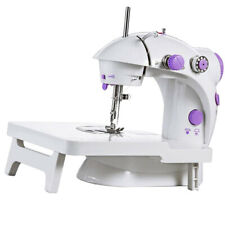 US Portable Electric Crafting Mending Machine Adjustable Speed Double Needle