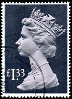 1984 Sg 1026c £1.33 pale mauve and grey-black Long Format Fine Used