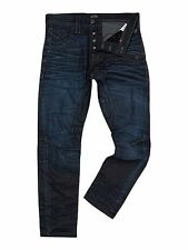 "JACK & JONES Mens Dark Denim Resin Coated Jeans size 28""32"" - Brand New"