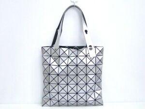 MNT Issey Miyake Shoulder Hand Bag BAOBAO Mesh PVC Silver Tone 31180004000 K