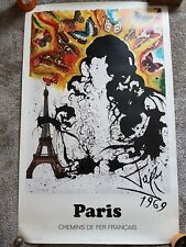 Original French railway poster designed by Dali - Paris